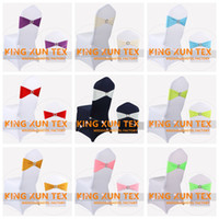 Wholesale Cheap Chair Sash Buckles - Good Looking Lycra Spandex Chair Band Sash With Crown King Buckle For Cheap Wedding Chair Cover Decoration