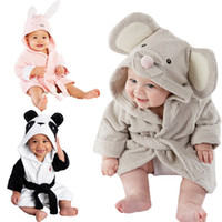 Wholesale red hooded cloak - baby kids Hooded Animal modeling Cloak Baby Bathrobe Cartoon infant bath towel