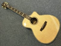 2017 new 916 Acoustic guitar Natural 40 inch bevel cutaway real incrustações de abalone estilo de guitarra de auditório AAA Solid spruce top China guitarras