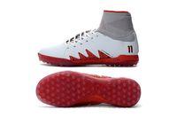 Wholesale Wholesale Indoor Soccer Shoes - New HypervenomX Proximo Neymar JR TF White Red Soccer Cleats 2017 Glitch Soccer Cleats CR7 Indoor Shoes