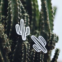 5 pares / lote New Arrivals Cactus Stud Earrings Pure 925 Sterling Silver Earrings For Women Declaração Jóias Pendientes Brincos