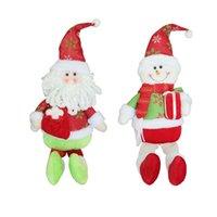 muñecas de santa nieve de navidad al por mayor-Santa Claus Snow Man Doll Decoraciones de Navidad Árbol de Navidad Gadgets Adornos Muñeca Regalo de Navidad Envío gratis