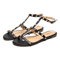 Wholesale Sexy Rivets Sandal - Big Size 5-10 shoes women sandals Casual zapatos mujer Brand Summer style Slipper Top Quality Flats Sexy Rivet Shoes Free Shipping