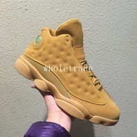 Wholesale Wheat Free - Free Shipping Mens Shoes 13s 13 Wheat Basketball Shoes Mens 13 Wheat Sneakers Size US 8-13