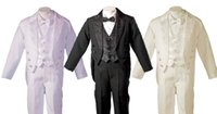 Wholesale Tuxedo For Year - communion suits for boys Boys Tuxedo Style Tail Suit Perfect for Christening Baptism 3 Months to 6 Years