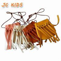 handmade сумки для детей оптовых-Wholesale- JC KIDS Fashion Baby Girls Coin Purses Handmade Kids Handbags Girl Tassel Bag Children Accessories girls tassel coin purses