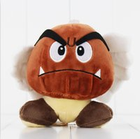 Wholesale Super Mario Bros Plush Characters - 14cm Super Mario Bros Goomba Plush Toy Soft Plush Stuffed Doll for kids Christams gift free shipping EMS
