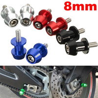 Wholesale Sliders Honda - 2 Pieces Universal Aluminum Swingarm Spools Sliders for Honda CBR 600 900 1000RR For Kawasaki For Suzuki GSR 650 750