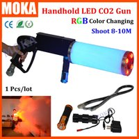 Wholesale 1 Handheld Led co2 gun stage effect cryo led CO2 Jet machine Pistol co2 dj gun free gas hose