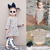 Wholesale Kids Leopard Costume - Kids Max Dresses for Girls Boutique Clothing Cotton Jersey Baby Girl Summer Fall Dress Birthday Print Robe Infant Princess Sundress Costumes