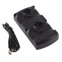 Wholesale Move Power Charger - Dual Charging USB Powered Dock Charger for PlayStation 3 for Sony for PS3 Controller and Move Navigation