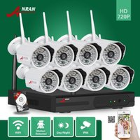 ANRAN P2P 8CH Wifi NVR 720P Wireless impermeabile 48 IR Day Night Home CCTV Sicurezza Wifi Kit IP sistema di fotocamera con 2TB HDD