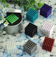 Wholesale Neodymium Magnetic Magic Balls Puzzle - Bucky Balls Sphere Magnet Magnetic Magic cubes ball bucky balls neodymium Puzzle Toy Multicolor silvery gold Iron box packing 42yy G1