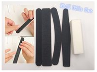 Wholesale Gel Nail Buffers - High Quality Nail Buffer Block And Nail File Sets For Acrylic UV Gel Operated Nail File Tools Sets