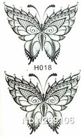 Wholesale Temporary Black Butterfly Tattoos - Wholesale- 2016 NEW 10x6cm Temporary Small Fashion Tattoo Black Sexy Butterfly Waterproof Temporary Tattoo Stickers