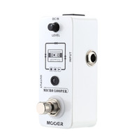 Wholesale effect pedal looper for sale - Group buy Mooer Micro looper Mini Loop recording Effect Pedal for Electric Guitar True Bypass High Quality Guitar Parts Accessories