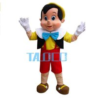 Wholesale Pinocchio Movies - OISK Custom Best quality Pinocchio Mascot Costume Adult Halloween Fancy Dress Cartoon Character Outfit Suit For School