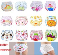 Wholesale Underwear Baby Cartoon - 3 layers cartoon baby training pants waterproof diaper pant potty toddler panties newborn underwear Reusable training pants 12 designs