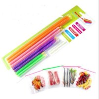 Wholesale Clips For Bags Food - Magic Bag Sealer Stick Unique Sealing Rods Great Helper For Food Storage Sealing Clip Camp Goods Lock YYA116