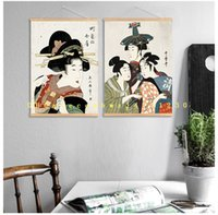 Wholesale Dining Oil Paints - Ukiyo-shi painted character decoration, dining room living room study painting modern simple Japanese-style wall scroll painting