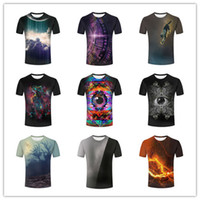 orange vector - Personality Mens D Vector Colorful Eyes Space Earth Blue Dusk Forest Black Grey Purple Printed short sleeves tshirts tops tee