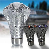 Wholesale Snake Gear Knob - Universal Decorative Led Eyes Car Chrome Manual Gear Shift Knob Snake AUP_50A