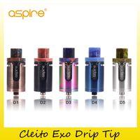 Wholesale exo caps - Original Aspire Cleito Exo Drip Tip Resin Top Cap Beautiful Tips for Authentic Cleito Exo Tank 100% Genuine 2210083