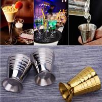 Wholesale Coffee Cups Art - Bar Coffee Jigger Measuring Wine Cup Stainless Steel Practical Measure Jigger Bar Tool Measuring Shot Cup Ounce Jigger Bar OOA2118