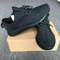 Wholesale Trainer Shoes Wholesale - BOOST 350 PIRATE BLACK BB5350 SNEAKERS KANYE MILAN WEST RUNNING SHOES FOR MEN FASHION MOONROCK TRAINERS SHOES WITH BOX