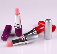 Wholesale Discreet Sex - Lipstick vibe Discreet Mini Bullet Vibrator Vibrating Lipsticks AV stick Jump Eggs masturbation Sex Toys Products for women