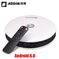 Wholesale beamer 3d shutter resale online - AODIN M18 DLP portable HD home theater projector active shutter D video beamer build mAh Battery G ROM miracast airplay