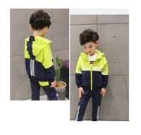 Wholesale Kids Long Sleeve Tee Shirts - spring and autumn boy clothing sets fashion kids top tee long sleeve cute children's t-shirt with hooded breathable cotton