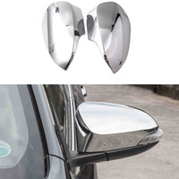 Wholesale Wholesale Rear View Mirror Covers - ABS 2Pcs Set Car Styling Rear View Mirror Protector Cover Trim For European Toyota Camry 2012 2013 2014 2015 Auto Accessories