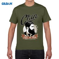 Wholesale Photo Win - 2017 Funny Cotton Casual Top Tee A Chin Full Of Win No Shave Beard Razor Adult T-Shirt photo Tees