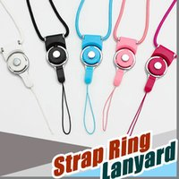 Universal Phone drehbare abnehmbare Neck Strap Ring Lanyard Charms für iphone 7 7s Plus Samsung 8 Edge Drives ID Karten Inhaber 500pcs DHL