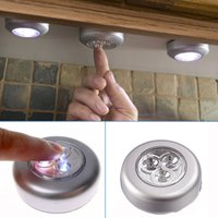 Wholesale Led Lamp Battery Stick - Wholesale- LED Wireless Night Light Stick Tap Touch Lamp Push Light for Closets Cabinets Counters Rooms,Cordless Battery Touch Night Light