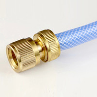 Wholesale Wholesale Garden Hose Fittings - New Hot Copper Tube Snap Adaptor Fitting Garden Outdoor Metal Threaded Hose Water Pipe Connector NB0185