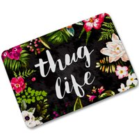 Wholesale Outdoor Rubber Rugs - 40x60cm Forest Tree Flowers Thug Life Pattern Area Carpet Doormats Anti-slip Rubber Outdoor Entrance Welcome Floor Door Mats Rugs