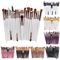 Professionelle 20pcs Make-up Pinsel Set Kosmetik Gesicht Lidschatten Pinsel Werkzeuge Make-up-Kit Augenbrauen Lippen Pinsel DHL Versand