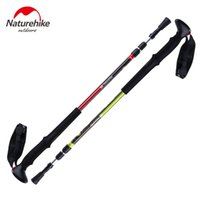Wholesale NatureHike Climbing stick Walking Stick Hiking Ultralight Canes Adjustable Aluminum Alloy Folding NH Cane