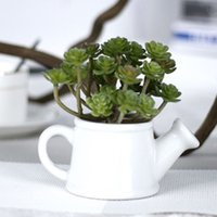 Wholesale 24 Head Green Artificial Succulent Plants Succulent For Home Hotel Wedding Party