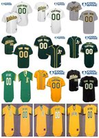 Wholesale Size Pullover Youth - Stitched mens womens youth Oakland Athletics Custom Cool Base Gray Road Home White Black Gold Yellow Green Pullover cheap Jerseys size,S,4XL