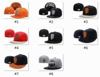 Wholesale Top Hat Designs - Top Sale 2017 New San Francisco Giants Fitted Hats Embroidered Team Logo SF Sport On-Field Design Baseball Full Closed men woemn Caps