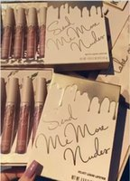Wholesale Dhl Lipstick - In Stock!Hot Kylie Jenner Send Me More Nude 4pcs Set Nude Liquid Lipstick 4 Color Matte and Velvet Lipgloss By Kylie Cosmetics DHL Shipping