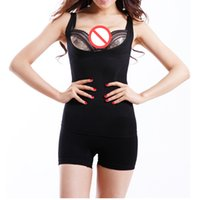 Wholesale natural body charcoal for sale - Natural Bamboo Charcoal Body Shaper Underwear Slimming Suit Bodysuits