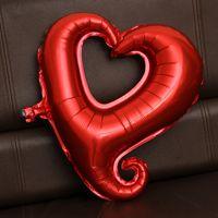 coração em forma de balões de folha venda por atacado-18 Polegadas Grande Gancho Coração Forma Folha Balões Atacado Balão de Hélio Decoração de Festa de Casamento Balões de Casamento