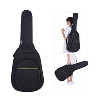 "Wholesale Portable Bass Guitar - 41"" Acoustic Classical Guitar Bag Case Backpack Adjustable Shoulder Strap Portable 4mm Thicken Padded Black I2314"