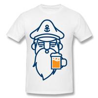 Wholesale Beer Promotion - Beard or beer Men's Tees Homme Pop Man Short Sleeve T Shirts Homme O-Neck Custom Work Shirt Promotion O-Neck Custom Work Tshirts