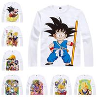 Wholesale Dragon Ball Son Goku - Japanese Anime Shirt Dragon Ball T-Shirts Multi-style Long Sleeve Son Goku, Kakarotto, Piccolo Daimao Cosplay Costume Kawaii Gift