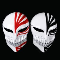 Wholesale Red Masks Japanese - 2017 new bleach pvc kurosaki ichigo movie props anime cosplay japanese collections ghost horror scary masks halloween